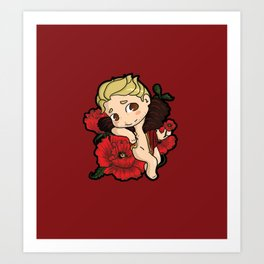 Cute Chibi Cullen Rutherford (Poppy version) Art Print