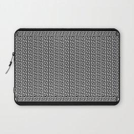 Greek Key Full - White and Black Laptop Sleeve