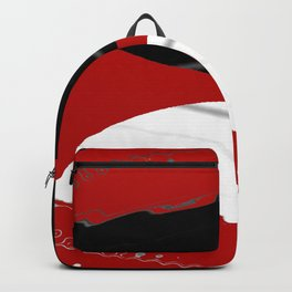 red black white grey abstract digital painting Backpack