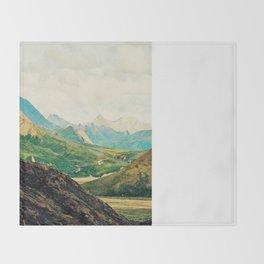 Denali Mountains Throw Blanket