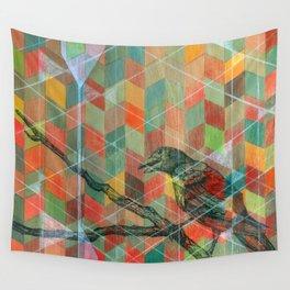 Geometric Crow Wall Tapestry