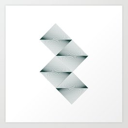 #520 Horizons – Geometry Daily Art Print