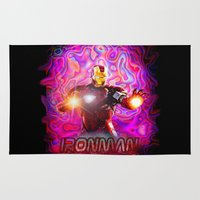 ironman Area & Throw Rugs featuring Ironman by JT Digital Art
