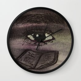 The eyes of Yeshua Wall Clock