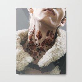 rose tattoos on neck Metal Print