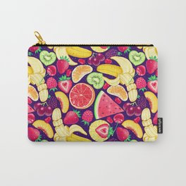 Fruit Cocktail on Blue Carry-All Pouch
