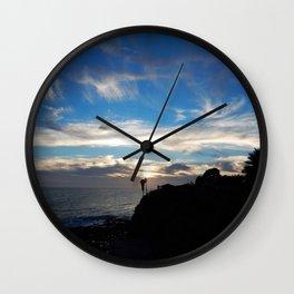 Laguna Beach sunset Wall Clock