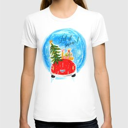 Dashing Through The Snow - Holiday Car Christmas Tree T-shirt