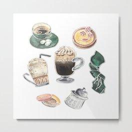 Coffee time set Metal Print