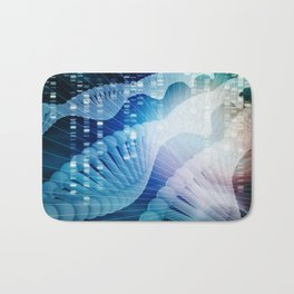 DNA Molecule Helix Science Abstract Background Art Bath Mat