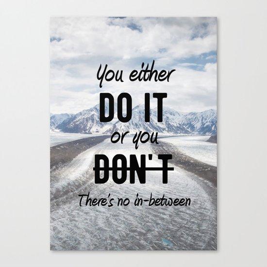 Motivational - Do it! - Motivation Canvas Print