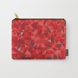Red and gray triangular pattern - triangles mosaic Carry-All Pouch
