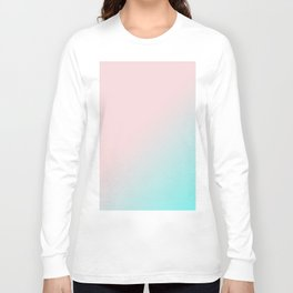 Simply Pink & Teal Color Gradient - Mix And Match With Simplicity of Life Long Sleeve T-shirt