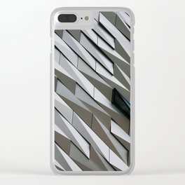 Building wall pattern Clear iPhone Case