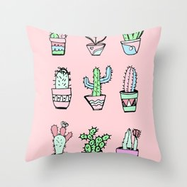 Cactus Party Throw Pillow