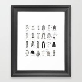 MY WARDROBE Framed Art Print