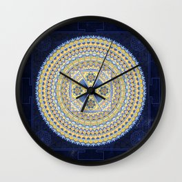 Sacred Geometry Mandala: Introspection Wall Clock