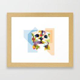 Little colorful cat Framed Art Print