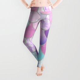 Mermaid Sweet Dreams, Pastel, Pink, Purple, Teal Leggings