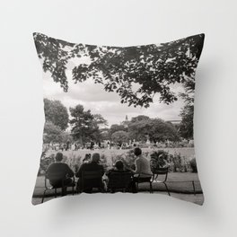 Parisian Gaze Throw Pillow