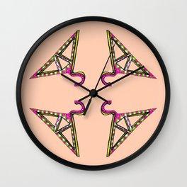 Triangular Hangers Wall Clock