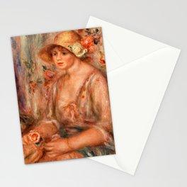 Pierre-Auguste Renoir - Woman in Muslin Dress Stationery Cards