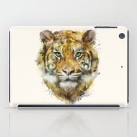 tiger iPad Cases featuring Tiger // Strength by Amy Hamilton