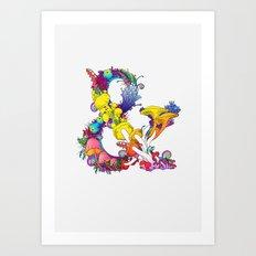 Mushroom & 2 Art Print