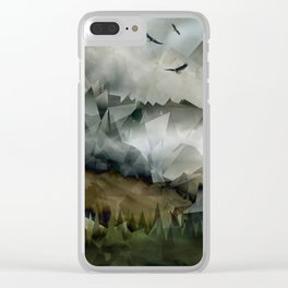 Eagle Mountains Clear iPhone Case