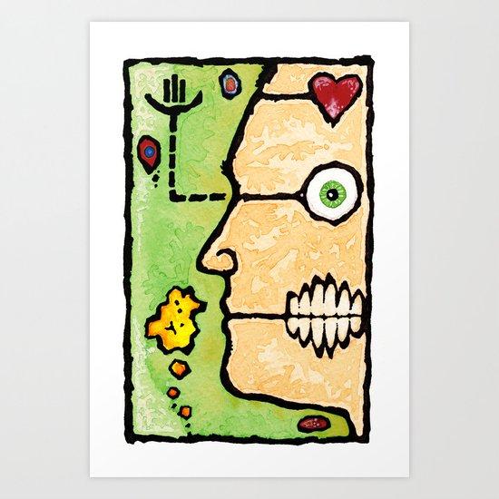 Complicated Woman Art Print