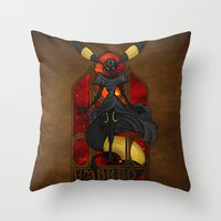 "umbreon Throw Pillows featuring Rule 63: Umbreon by Barbora ""Mad Alice"" Urbankova"