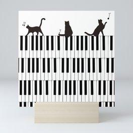 Piano Cat Mini Art Print