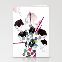 bubbles Stationery Cards featuring Bubbles by Stéphanie Brusick / Art by shop