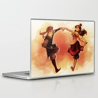 aang Laptop & iPad Skins featuring Kataango Fire by TiuanaRui