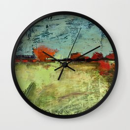 Orange Horizon Wall Clock