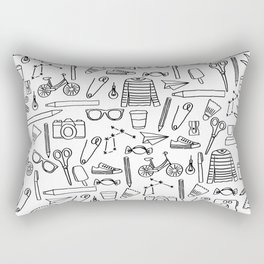 Cute Doodle Drawings Rectangular Pillow