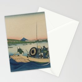 Sunset across the Sumida River Japan Stationery Cards