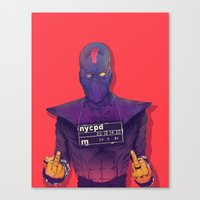 boneface Canvas Prints featuring Foot Clan by boneface