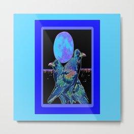 Raven's Blue Moon Art Abstract Metal Print