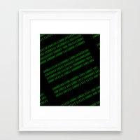 matrix Framed Art Prints featuring Matrix by Birkum Design