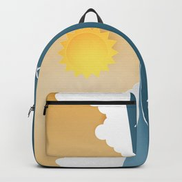 The joy of cloudspotting - paper cut series -  Backpack