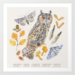 Autumn Wildlife - Neutral Art Print