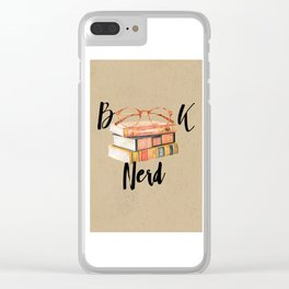 Book Nerd Clear iPhone Case