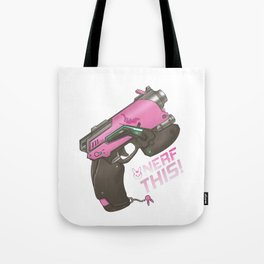 Nerf This! D.va Quote Poster, OW Tote Bag