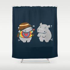 Hippypotamus Shower Curtain