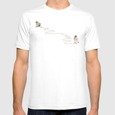 Young Love White LARGE Mens Fitted Tee