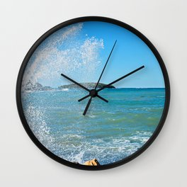Big wave on the blue sea Wall Clock