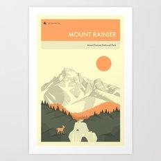 MOUNT RAINIER NATIONAL PARK POSTER Art Print