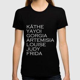 Famous Women Artists Feminism Art History 2 T-shirt