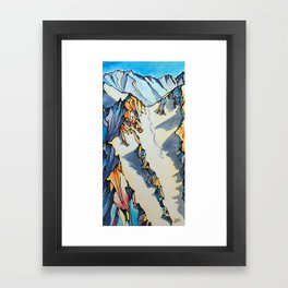 Powder Pig Framed Art Print
